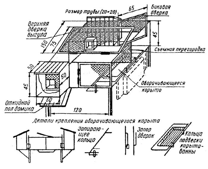 Схема: Клетка для шиншилл